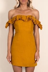 181e76298b26 Dress  Dissh Boutique MARGOT OFF THE SHOULDER FRILL DRESS ...